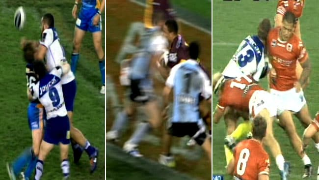 The shoulder charge is under threat in rugby league.