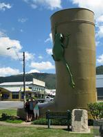 <p><strong>THE GOLDEN GUMBOOT<br /> Tully, Queensland</strong><br /> <br /> Bringing glitz and glam to Tully, The Golden Gumboot was given to the town in 2003 for being the wettest in Australia. It stands at 7.9 metres high, which represents the the town's record annual rainfall recorded in 1950. <br /> <br /> Picture: Flickr user Geoff and Dianne Rhodes</p>