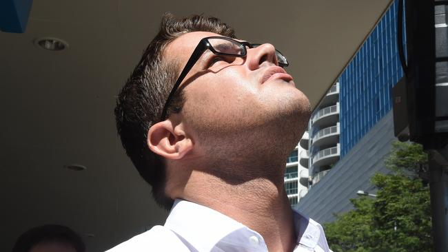 Gable Tostee outside the Supreme Court in Brisbane. Picture: AAP
