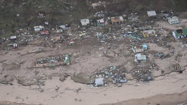 Authorities are hoping that residents in these areas were able to escape before Winston arrived. Picture: NZ Defence AirForce/Fijian Government
