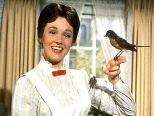 Supplied Editorial Julie Andrews as Marry Poppins from the movie