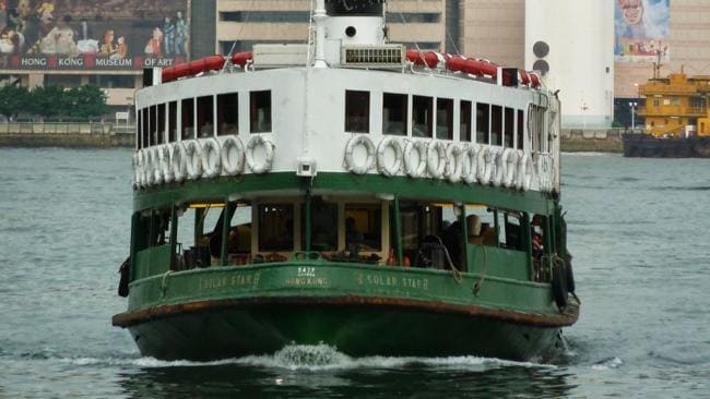 The Star Ferry arriving at Wan Chai. Picture: Sarah Nicholson