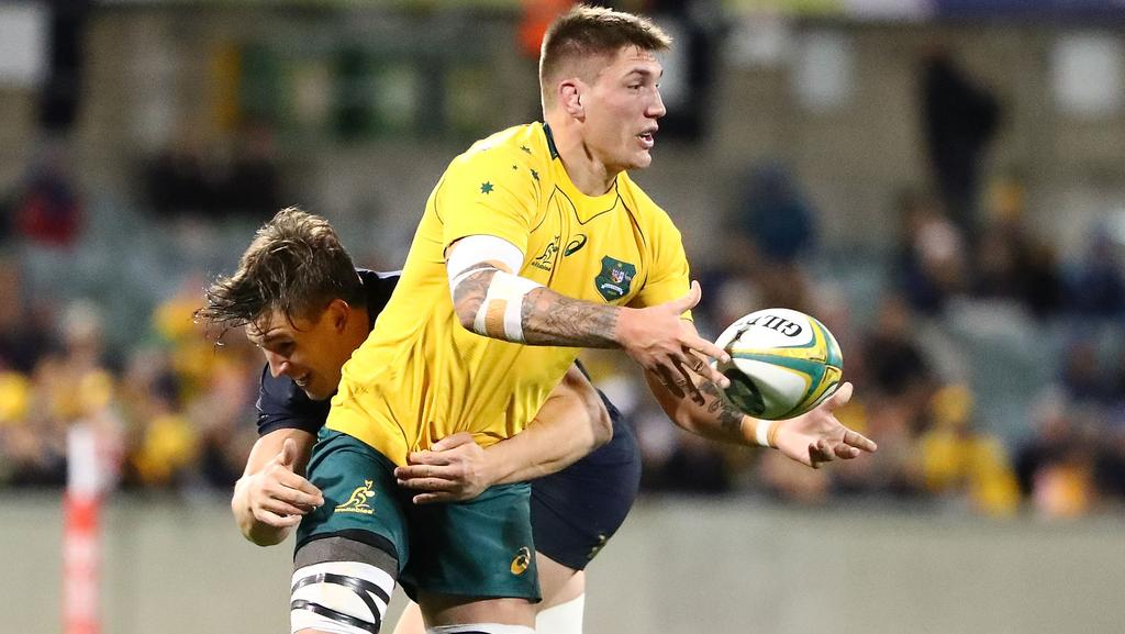 Sean McMahon was impressive for the Wallabies.