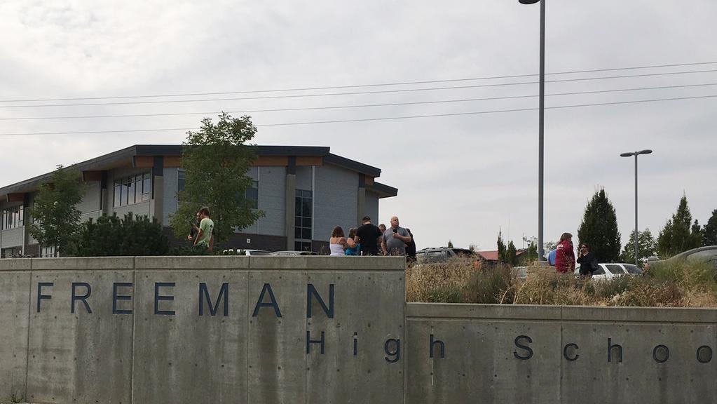 A student was killed in a shooting at Freeman High School in the US state of Washington. Picture: KHQ via AP