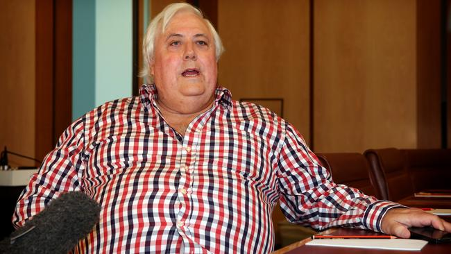 Palmer United Party federal leader Clive Palmer is proving more than a handful in Canberra. Picture: Kym Smith
