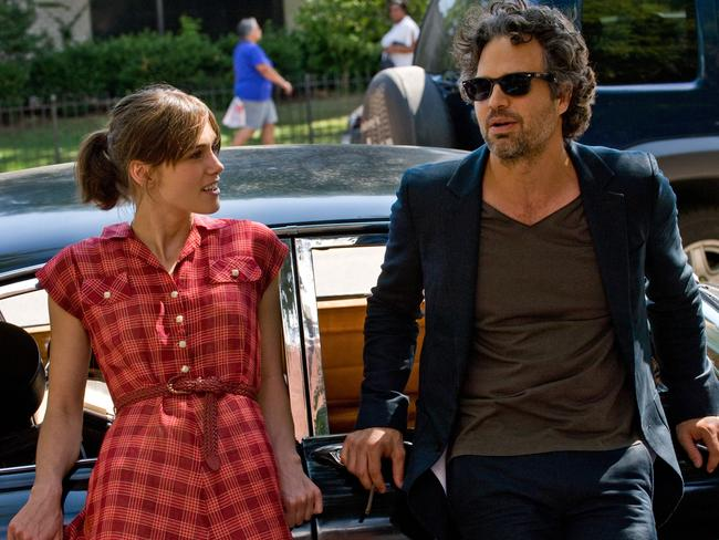 Keira Knightley is Gretta and Mark Ruffalo plays Dan in  <i>Begin Again</i>. Picture: Supplied