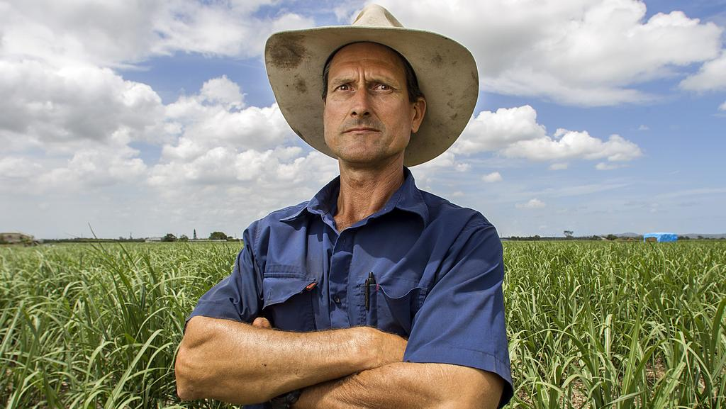 Sugar cane Farmer Greg Zipf on his property in 2013. Picture: Jack Tran.