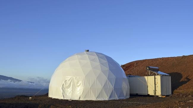 This photo shows the domed structure that will house the six researchers in an environment meant to simulate an expedition to Mars.