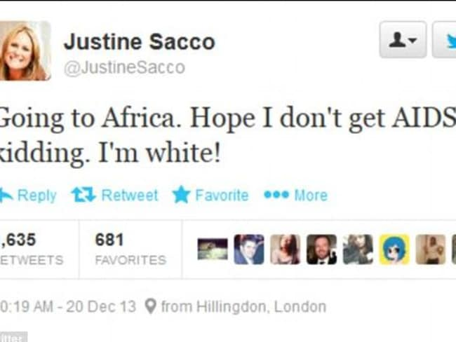 Justine Sacco felt the wrath of social media in 2013 over her joke.