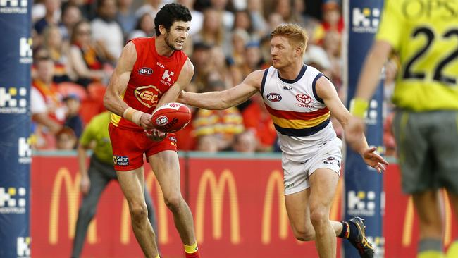 Jarrad Grant in action when he played for the Gold Coast Suns. Photo: Jerad Williams