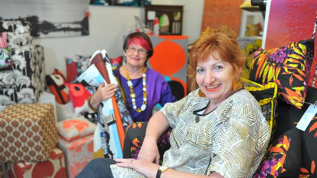 Raw Cloth owner Rhonda Dunne (right) and work partner Kerrie Horgan.