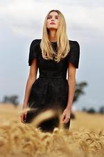Jess Hart wears Ellery's Syndicate dress $770. Picture: Alex Coppel