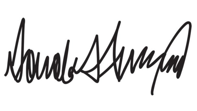 Now Donald Trump's signature is appearing on controversial executive orders, his handwriting has been analysed revealing some surprising results.