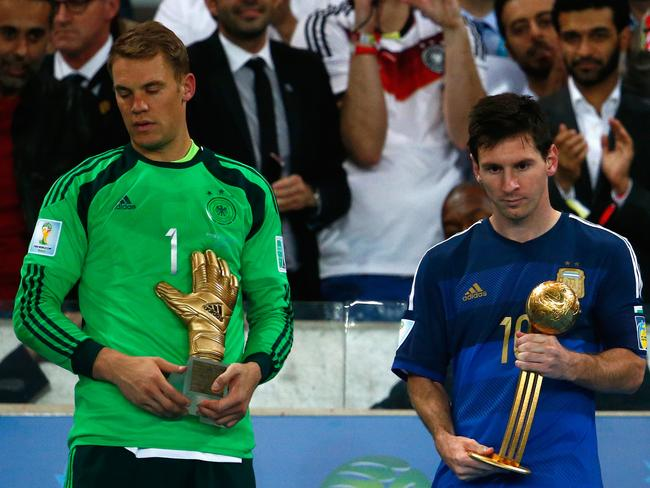 Lionel Messi has been named the World Cup's best player.