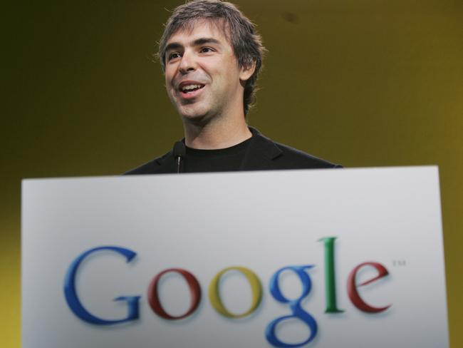 Google co-founder Larry Page. Picture: AP