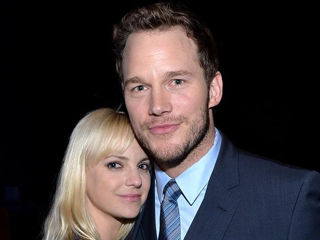 Perfect match ... Actress Anna Faris with husband Chris Pratt at the CinemaCon Big Screen Achievement Awards. Picture: Michael Buckner