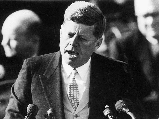"""Echoes: Pundits say Abbott's speech is designed to echo the themes of US President John F Kennedy's famous """"do for your country"""" inauguration speech. Picture: AP"""