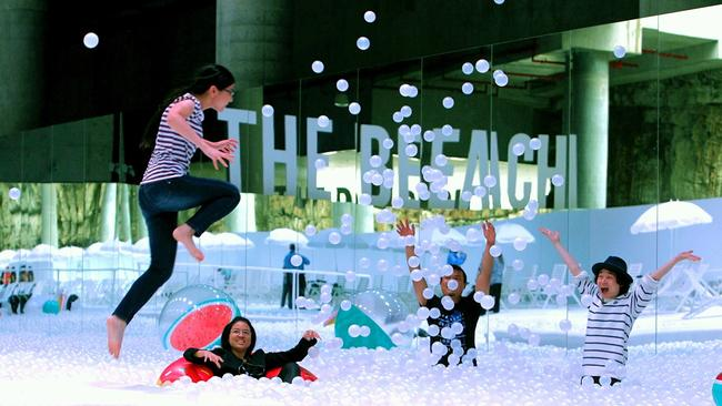 Sydney Festival's The Beach at Barangaroo was a giant ball pit of happiness. Now's there's an adult only version coming to Bondi. Picture: Sydney Festival.