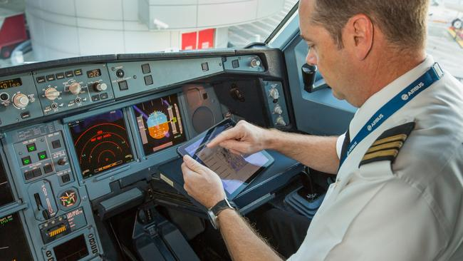 Qantas pilots may have to wait a bit longer to use iPads at 35,000 feet. Picture: Brett Winstone