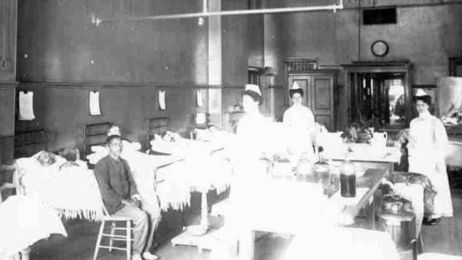 Male Surgical Ward in the 1890s. Picture: Heritage Office Royal Adelaide Hospital