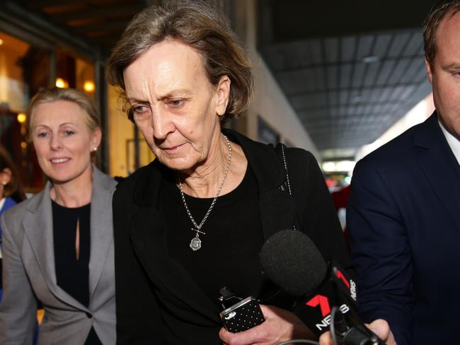 Witness Ann Wills leaves ICAC after giving evidence at operation Spicer hearing at 133 Castlereagh Street, Sydney. Picture Cameron Richardson.