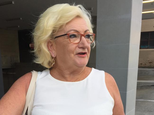 Robyn Hudson speaking outside court in Perth. Picture: AAP