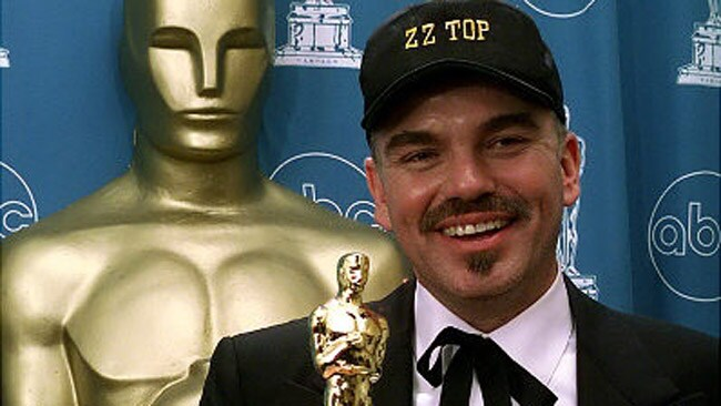 Billy Bob Thornton, his baseball cap, and his Oscar. Picture: Supplied