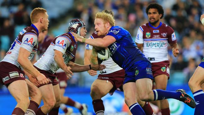 James Graham for the Bulldogs in action.