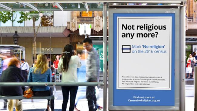 Crowd-funded campaign: The Atheist Foundation of Australia is ramping up its 'mark no religion' push Picture: Michael Findlay