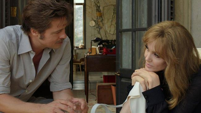 Brad Pitt and Angelina Jolie-Pitt on set in By the Sea.