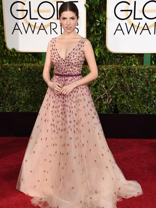 Fairytale gown ... actress Anna Kendrick. Picture: AP