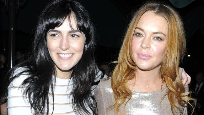 Ali and Lindsay Lohan in 2014.