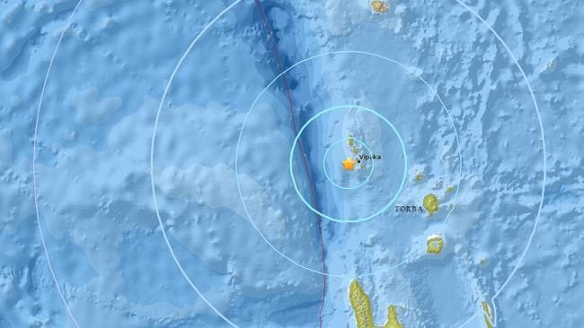 Earthquake hits South Pacific