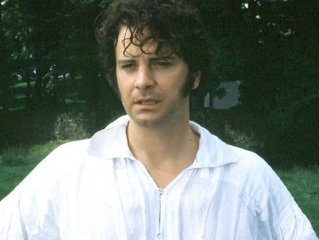 Mr Darcy kept his shirt on, even when it got really, really wet.