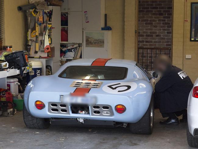 The Ford GT seized by the AFP belonging to Andrew Cranston. Picture: supplied