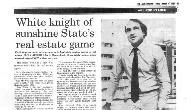 An article in The Australian on Brian White from 1981. The company now has offices in New Zealand, Indonesia, India, Malaysia, Papua New Guinea, China, Middle East and Atlanta.