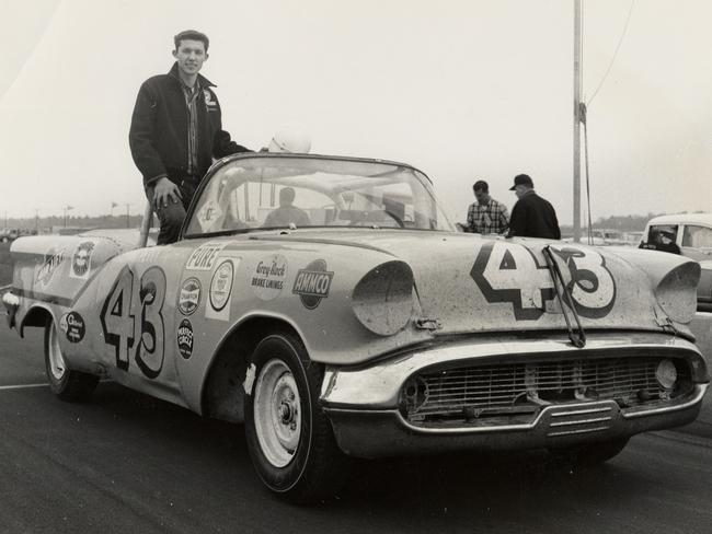 Petty aboard his machine for NASCAR's short-lived convertible series.