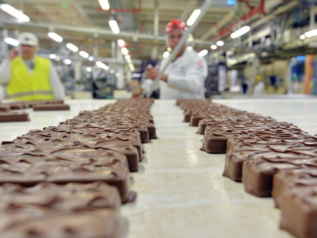 Mars is withdrawing Mars and Snickers chocolate bars and Celebrations sweets from sale in several European countries but Australian-made products are not affected .Picture: AFP / Patrick Hertzog