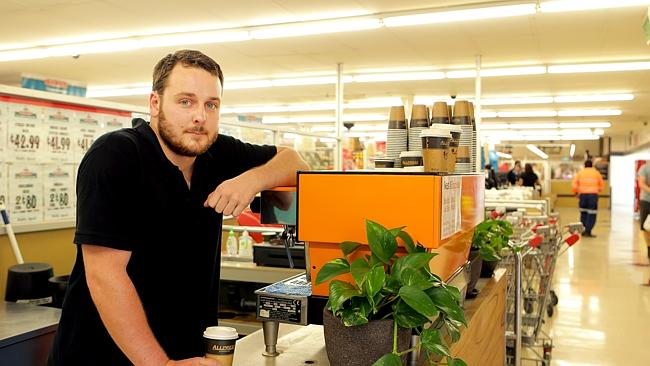 SIMS Supermarket barista Steele Foster will make you a fine coffee. Barkly St, West Footscray.