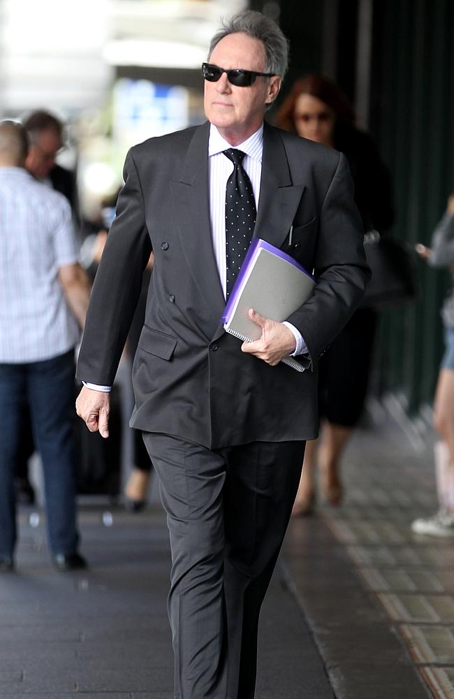 Hughes outside court. Picture: John Grainger
