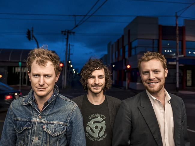 The Basics: Kris Schroeder, Wally De Backer (Gotye) and Tim Heath.
