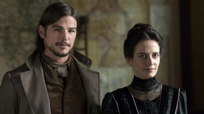 Green with Josh Hartnett in the first season of gothic horror series Penny Dreadful. Picture: Foxtel