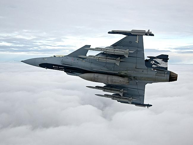 Efficient ... the Saab Gripen costs almost the same as a Super Hornet to buy but Saab cla