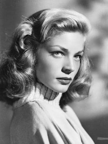 American screen star Lauren Bacall wearing a polo neck jumper circa 1945. Picture: Getty