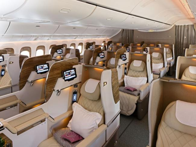 Emirates new first class cabin. Picture: Emirates