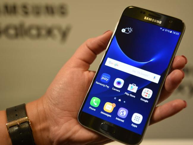 New technology ... The Samsung Galaxy S7 features a 16-megapixel camera. Picture: Jennifer Dudley
