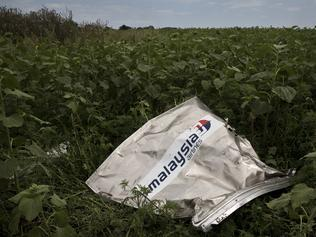 On the ground ... Debris and objects found Malaysian Airlines flight MH17 fell from the sky in Rozsypne, Eastern Ukraine. Picture: Ella Pellegrini