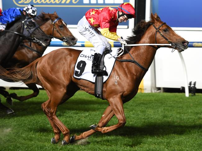 Craig Newitt and Extreme Choice claim the Moir Stakes last September. Picture: Getty Images)