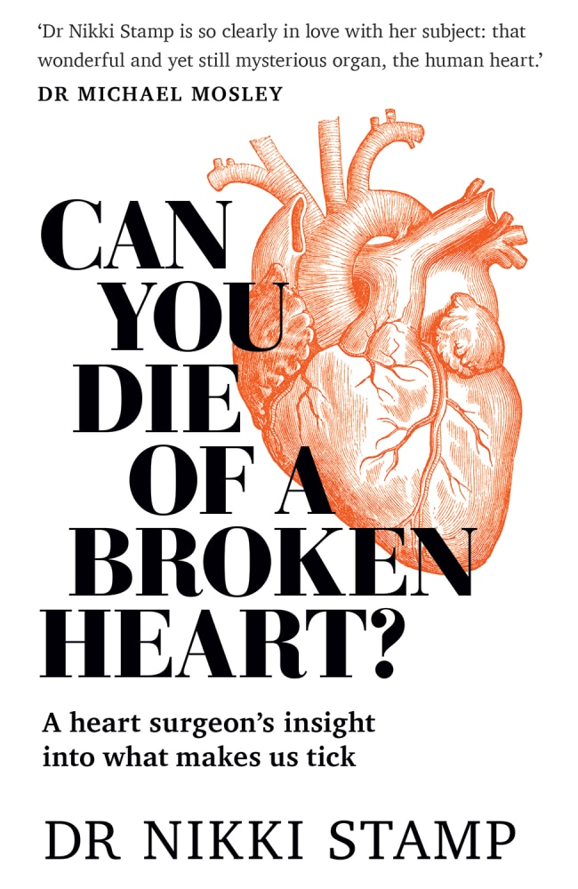 """Can you die of a broken heart"" , $29.99, by Nikki Stamp"