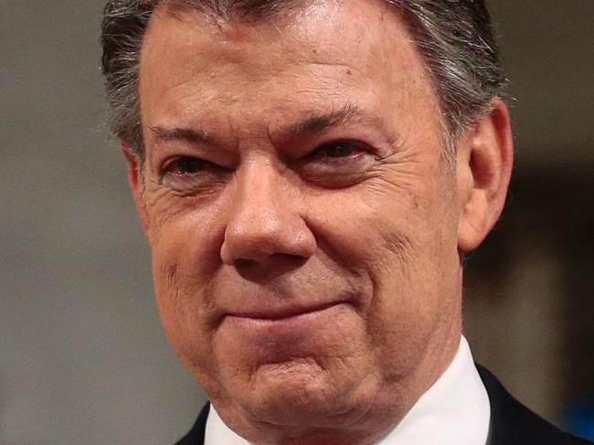 Colombia's president accepts Nobel prize